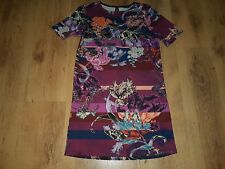 beauitiful multi-coloured floral WAREHOUSE cocktail party evening dress size 10