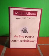 MITCH ALBOM autograph book Five People You Meet in Heaven signed 2003