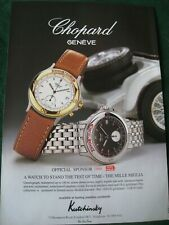 CHOPARD GENEVE MILLE MIGLIA SPONSOR POSTER ADVERT READY FRAME A4 SIZE file G