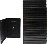 (25) DVBR14BK DVD Cases Standard Black Empty Single Boxes 14mm Wrap Sleeve NEW
