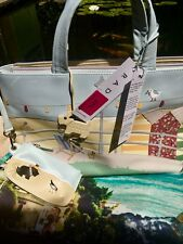 NEW RARE RADLEY  SIGNATURE PICTURE GRAB BAG BESIDE THE SEASIDE 2010 /dust bag