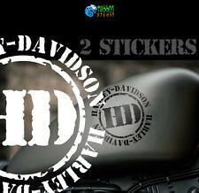 2 Pegatinas Harley Davidson tanque casco stickers moto custom vinilo
