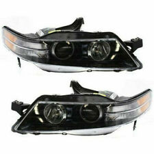 New Set of 2 LH & RH Side Head Lamp Lens and Housing Fits Acura TL Type-S Models