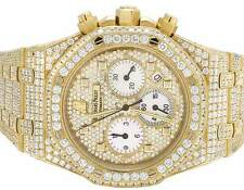Mens 39 MM Audemars Piguet Royal Oak 18k Yellow Gold with VS diamond (22.35 Ct)