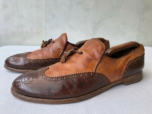 'Officine Creative' Made in Italy Leather Tassel Loafers  Sz 44