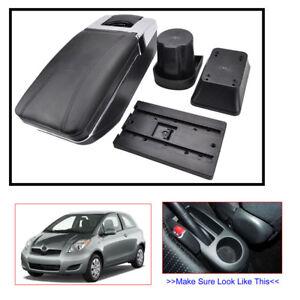 Car Storage Box Rotatable Armrest For Toyota Yaris 2 Hatchback 2006-2011 Black