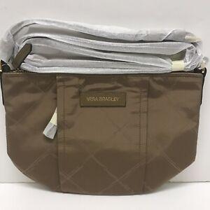 NWT Vera Bradley Preppy Poly Crossbody Bag in Toast Brown