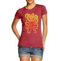 Twisted Envy Women's Octopus Tentacles 100% Cotton T-Shirt