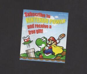 Super Mario Advance GBA WORN CORNER Nintendo Power INSERT ONLY Authentic