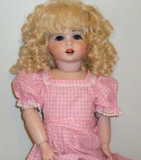 "SFBJ Paris #247 Antique Reproduction Doll 21"" All Bisque Dated 1983 Signed"