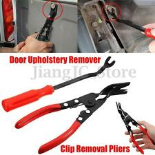2Pcs Car Door Card Panel Moulding Trim Clip Removal Tool Upholstery Remover