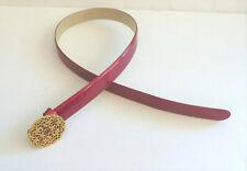 Escada NWOT Vintage Skinny Fuchsia Patent Leather Belt Size 36 6 Retail $295