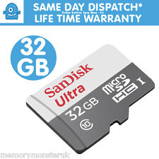 SANDISK ULTRA 32GB MICRO SD CARD PER SAMSUNG GALAXY S2 S3 S4 S5 Mini Neo