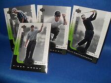 GOLF - 2001 UPPER DECK -  SCRATCH OFF (4) PGA CARDS * TIGER WOODS - ROOKIE