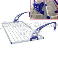 Séchoir à Linge De Balcon CM 108 Avec 2 Bras Réglable Glissant Aluminium