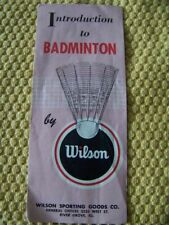WILSON vintage pamphlet instructions booklet Introduction to Badminton GC sports
