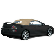 Mitsubishi Eclipse 2000-2005 Convertible Soft Top & Glass window Tan Twill