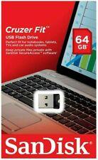 5x SanDisk 64GB Cruzer FIT USB 2.0 Flash Mini Micro Pen Drive SDCZ33-064G Retail