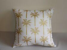 Gold & White Metallic Tropical Palm Coconut Tree Cushion Cover 45CM Au handmade