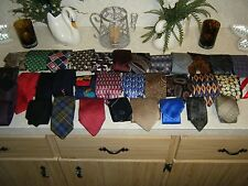 Mixed Lot of 34 Neckties most Silk in decent condition for wearing or for hobby