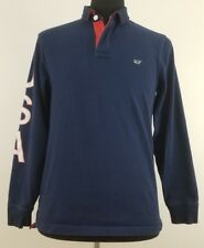 Vineyard Vines Men's Small Shirt Rugby Polo Navy Blue Whale USA Long Sleeve