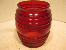 New red warning light glass lens