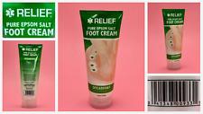 RELIEF Pure Epsom Salt FOOT CREAM SPEARMINT Soothing & Rejuvenating 6 Oz NEW