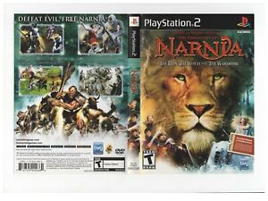 Chronicles of Narnia Lion Witch PS2 ARTWORK ONLY Excellent Authentic Black Label