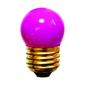 Bulbrite 702907 7.5 Watt Incandescent S11 Ceramic Pink, E26-Medium Base, 40 Lume