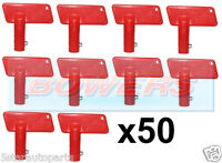 50x BATTERY RED CUT OFF KILL ISOLATOR SWITCH SPARE KEYS CAR BOAT RALLY MARINE