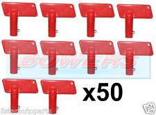 50x BATTERY RED CUT OFF KILL ISOLATOR SWITCH SPARE KEYS CAR BOAT RALLY MARINE