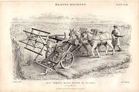 1874 BELLS Verbessert Reaping Maschine Von Crosskill