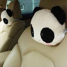 2pcs Practical Cute Panda Car Seat Head Neck Rest Plush Cushion Pillow Headrest