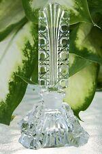 "Vintage Czech Perfume Bottle~Dauber~Signed~3.5""~Square Bottle~Perfect Condition"
