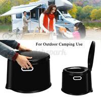 5L Portable Camping Toilet Seat Potty Loo Commode Outdoor Travel Hiking