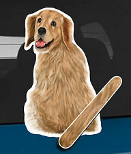 Golden Retriever Dog and animal pet rear window wiper sticker 10 inches tall