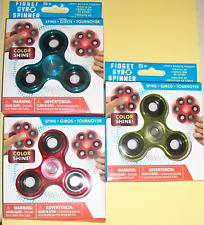 Set of 3 Shiny Hand Fidget Gyro Spinner Adult Kids Autism ADHD Ships from US NEW