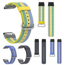 22mm Woven Nylon Armband Quick Ersatz Uhrenarmband Strap für Garmin Fenix 5 Plus