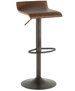 Ale Adjustable Metal Barstool, Bronze