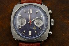 Regency Landeron 149 Large Case All Stainless Chronograph Watch Just Serviced