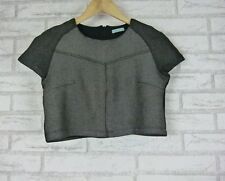 KOOKAI Crop Top Sz 34 Dark Gray/Black