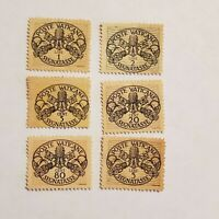 1946 Vatican City Poste Vaticane Segnatasse Stamp Set of 6 Mint Never Hinged