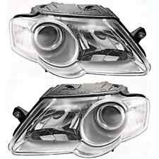 Fits 06-10 VW Passat Driver & Passenger Side Halogen Headlamp Assemblies (pair)