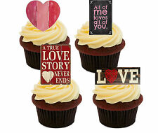 All of Me Edible Cupcake Toppers, Fairy Cake Bun Decorations Heart Anniversary