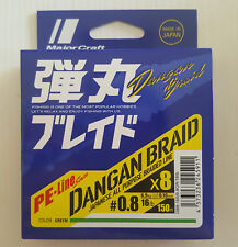 Trecciato Major Craft Dangan Braid 8x 150mt Green - PE 0.8