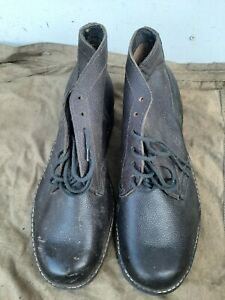 Soviet  russian army short leather boots size 45 (292) new
