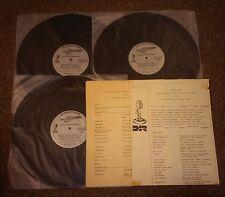 Silver Eagle Cross Country Music Show 3lp Vinyl VG++/NM Sheet Music & List Hank