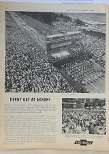 Vintage 1959 magazine ad for Chevrolet - Soap Box Derby Day parade at Akron Ohio
