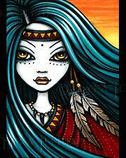 Native Tribal Sunset Tattoo Fae Fantasy Nina Signed Myka Jelina Print