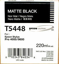EPSON T5448 MATTE BLK 220ml INK FOR EPSON 4000/4400/9600 NEW IN BOX DATE 07-2015
